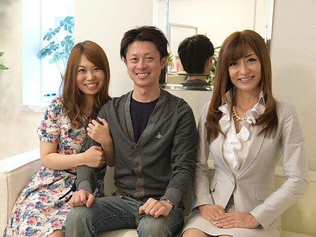 インタビュー時、仲人の内田さんと丹羽さんご夫婦。終始明るく本当に素敵なカップルでした!