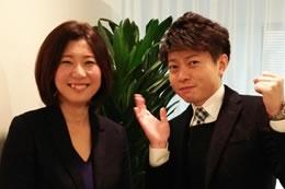 西日本事務局の森と。「婚活を世の中に根付かせていきましょう!」