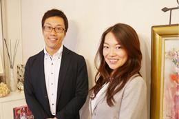 坪井さんとインタビュアーの後藤(IBJスタッフ) 「結婚相談所で起業したい方、相談に乗りますよ♪」